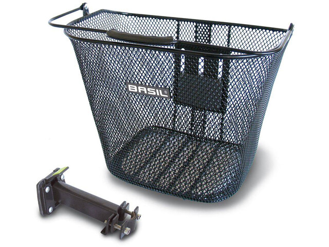 Basil Bremen BE Front Wheel Basket with BasEasy adapter plate and holder black